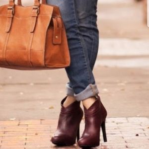Jessica Simpson Aggie Wine Ankle Booties, Size 11